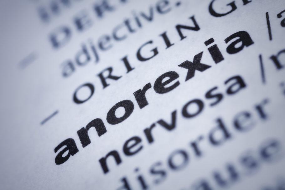 descrição da anorexia nervosa em um livro