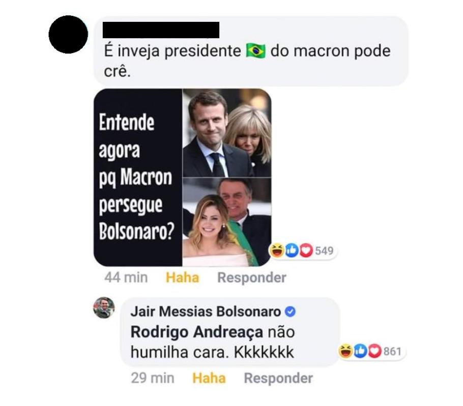 post machista de Bolsonaro