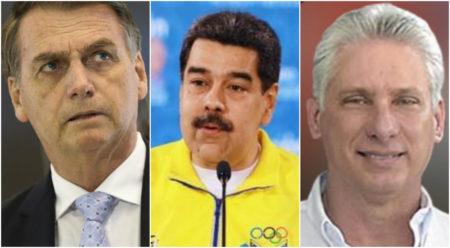 Venezuela cuba bolsonaro menor aprovação