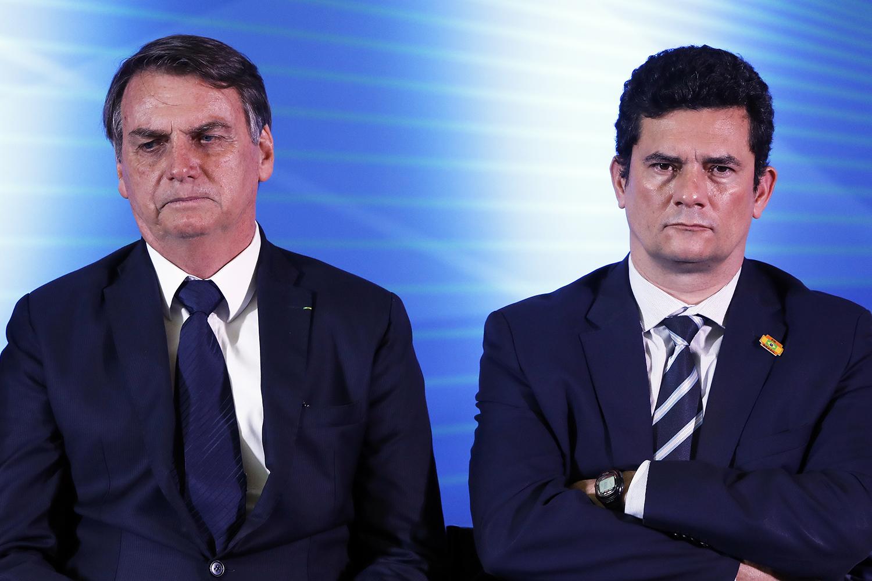 Globo revela patada de Bolsonaro em Moro por causa de seu filho