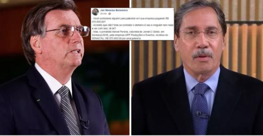 Bolsonaro mentiu sobre palestra de R$ 375 mil de jornalista da Globo