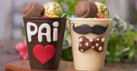 Receita de copinho de chocolate decorado para o Dia dos Pais
