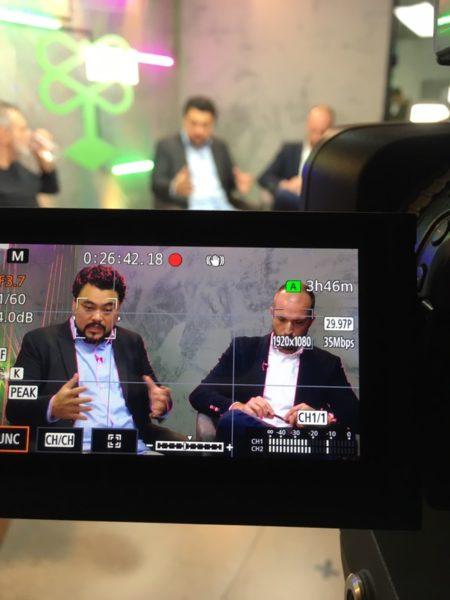 Leonardo Sakamoto e Vinicius Poit em evento na Catraca Livre