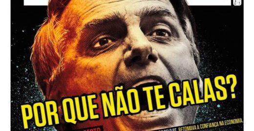 Detalhe na capa da IstoÉ com críticas a Bolsonaro vira meme na web