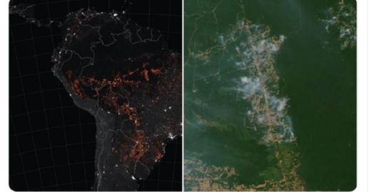 Nasa registra 2019 como pior ano de queimadas desde 2010