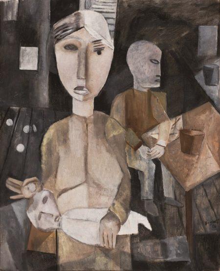 Lasar Segall Interior de indigentes, 1920 Óleo sobre tela, 83,5 x 68,5 x 2 cm Acervo MASP, doação Luba Klabin, 1950