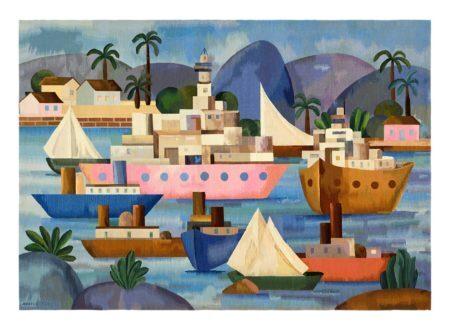 Tarsila do Amaral Porto I, 1953 Óleo sobre tela, 70 x 100 cm Comodato MASP Banco Central