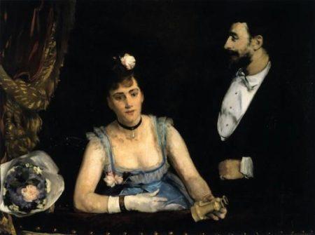 Eva Gonzalès Une loge aux Italiens [Um camarote no Teatro dos Italianos], 1874 Óleo sobre tela, 98 x 130 cm Acervo Musée d'Orsay, Paris, França, doação Jean Guérard, 1927