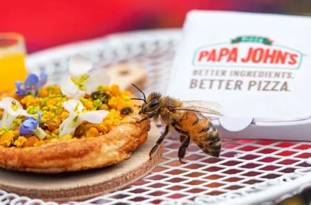 pizza e abelha