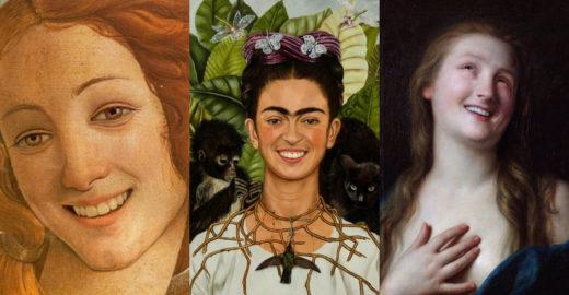 Colocaram um sorrisão em pinturas clássicas (e ficou genial!)