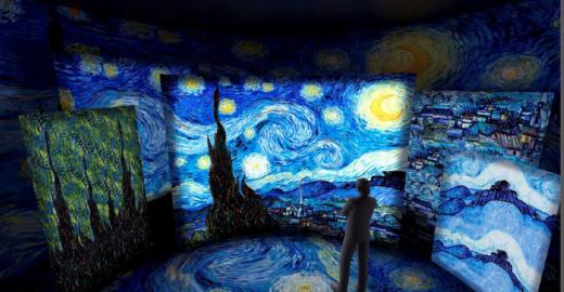 Exposição de Van Gogh leva visitante para dentro das obras