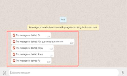 Ler mensagens apagadas no Whatsapp é possível; Saiba como