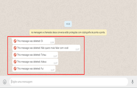 ler mensagens apagadas whatsapp