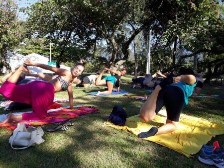 Sábado é dia de Yoga na Lagoa!