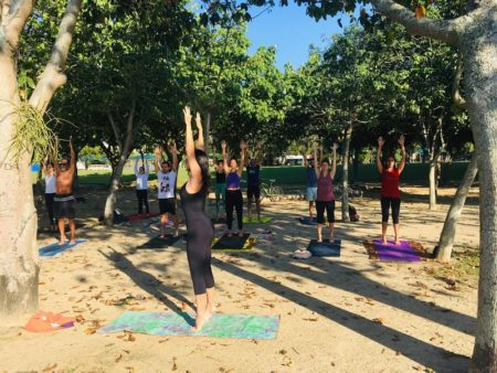 Yoga no Aterro do Flamengo acontece aos domingos
