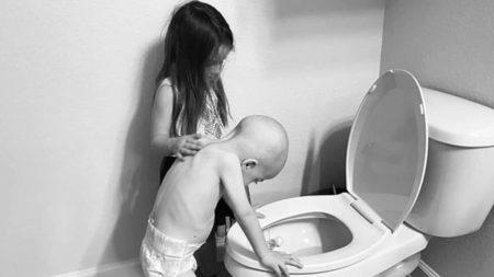 menina irmão câncer