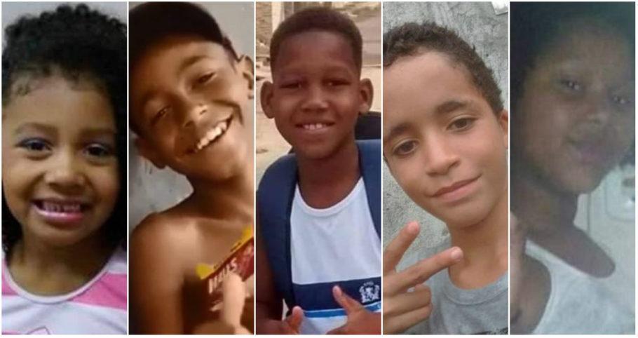 Ágatha, Kauê Ribeiro dos Santos, Kauã Rozário, Kauan Peixoto, Jenifer Cilene Gomes