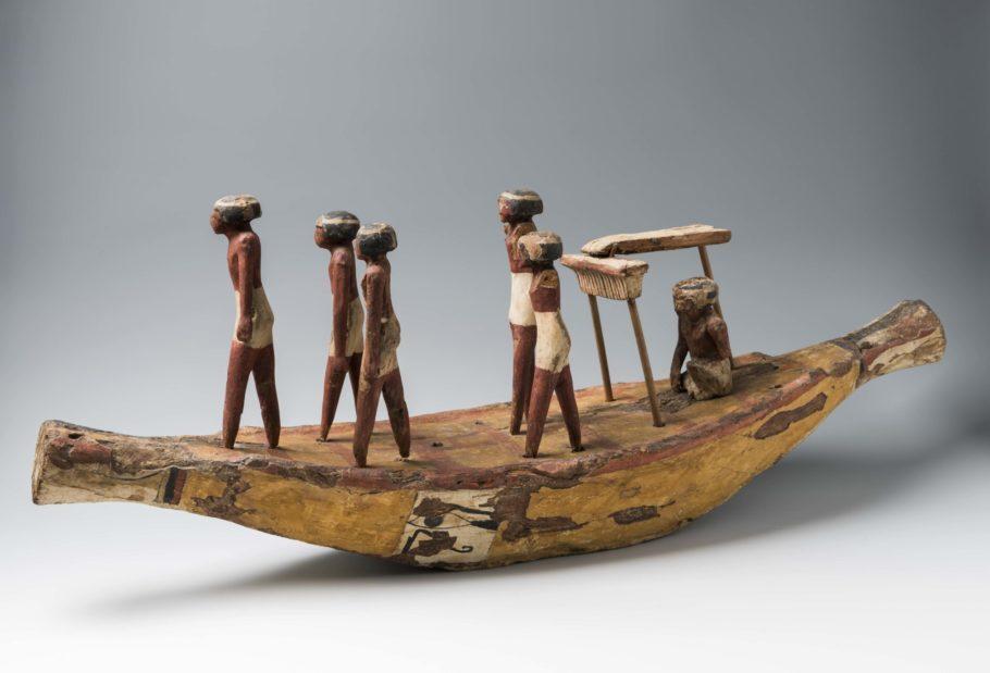 Modelo de embarcação do Egito Antigo