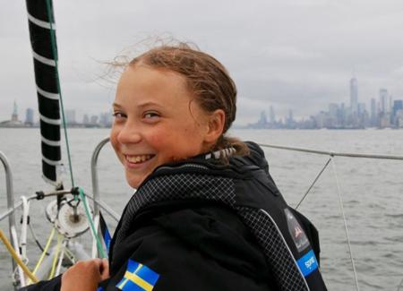 A ativista ambiental Greta Thunberg, de 16 anos
