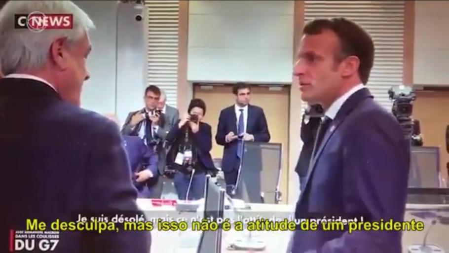 Macron critica Bolsonaro