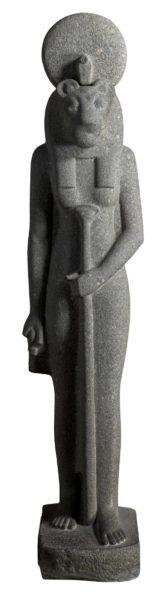 estátua de Sekhmet do museu egípcio de turim vai para a exposição do Egito no CCBB
