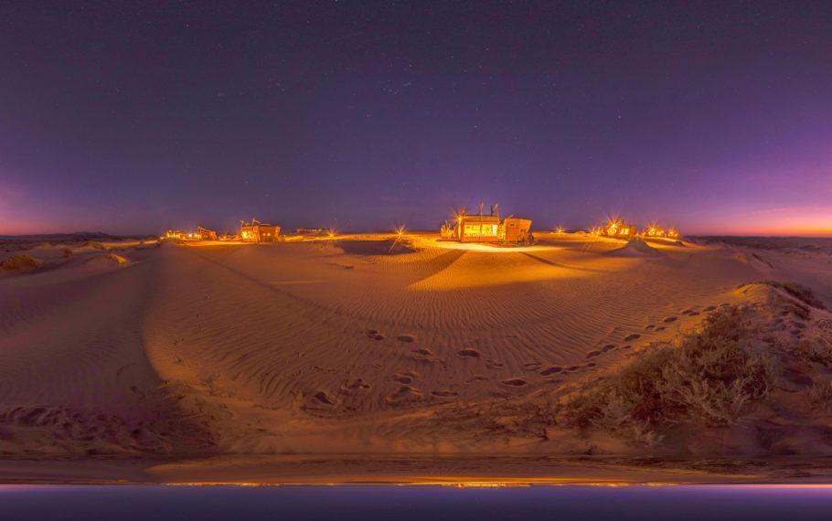 Vista do Shipwreck Lodge, na Namíbia