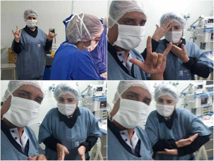 Intérprete auxiliou durante todo o parto