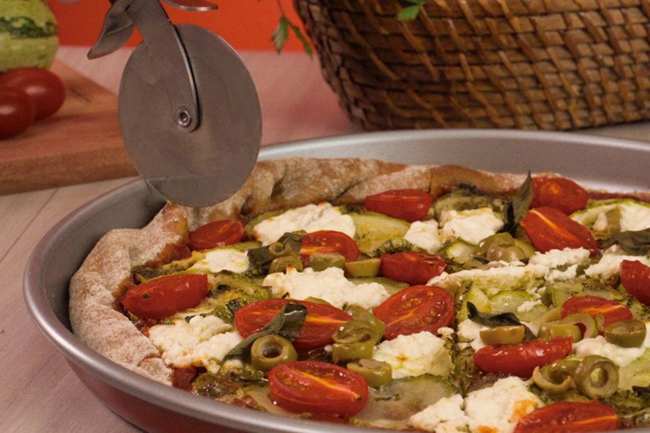 Pizza de abobrinha com cottage