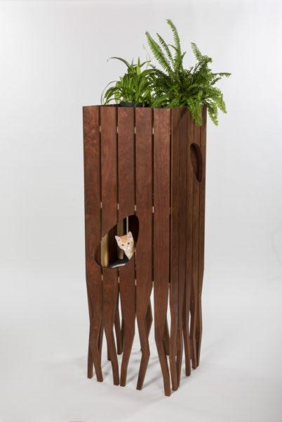 casa para gatinho que parece uma árvores com raizes