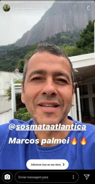 O ator Marcos Palmeira integrou a ação