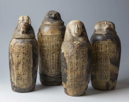 vasos canópicos, exposição ccbb egito antigo