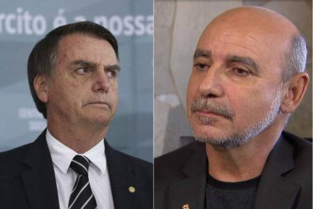 foto de Bolsonaro ao lado da foto do queiroz