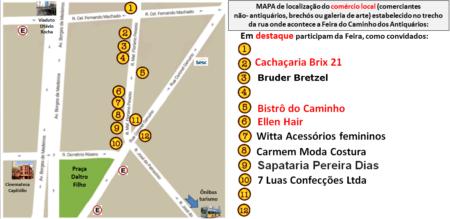 mapa caminho dos antiquários