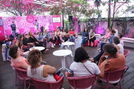 roda de conversa entre mulheres organizada pelo coletivo pink