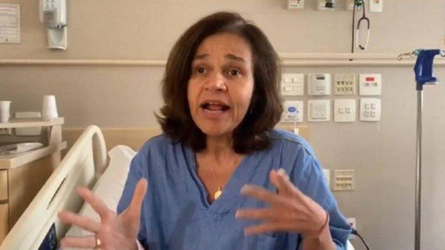 A atriz Claudia Rodrigues, que está internada em SP