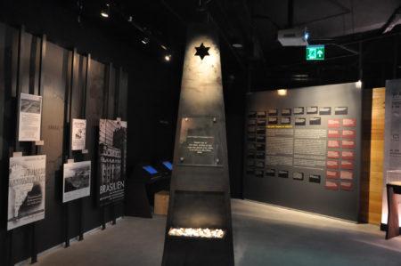 salão interno do museu do holocausto