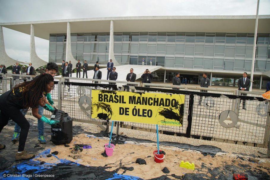 Protesto em frente ao Palácio do Planalto