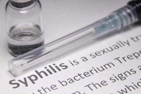 vacina de penicilina para sífilis em cima de uma pesquisa sobre a doença