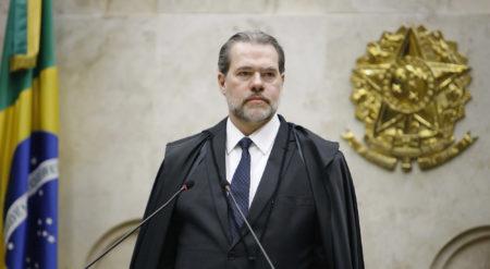 O presidente do STF, ministro Dias Toffoli, no plenário da Corte