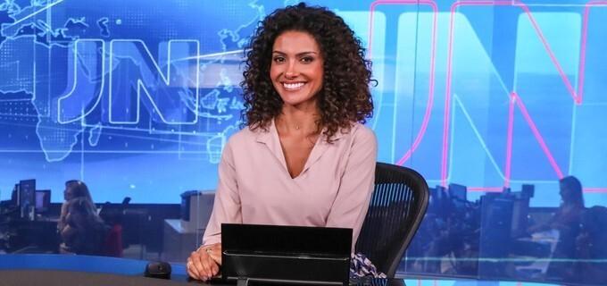 Aline Aguiar é apresentadora do MG1, telejornal da hora do almoço em MG