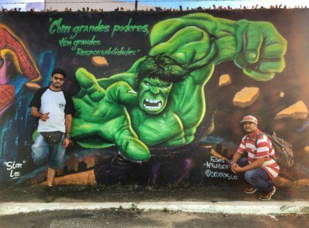 Waldir Grisolia e André França no Beco do Hulk