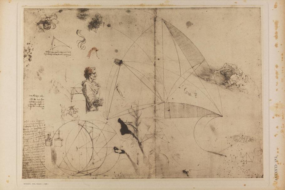 Estudo para engenhoca inventada por Leonardo Da Vinci