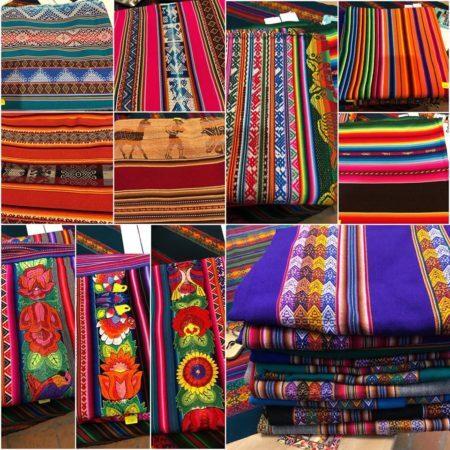 peças de tecido peruanas