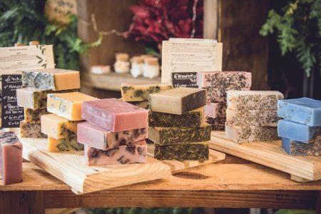 Sabonetes e condicionadores em barra da Veg Soap