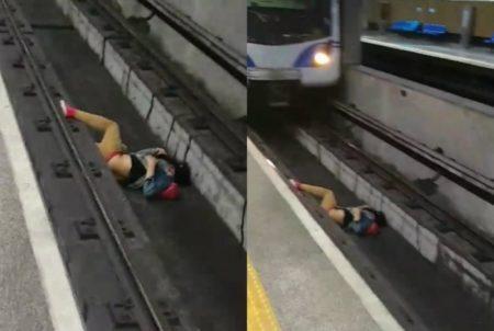 homem metrô trilhos atropelado