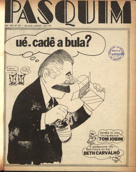 capa da edição 825 do jornal O Pasquim
