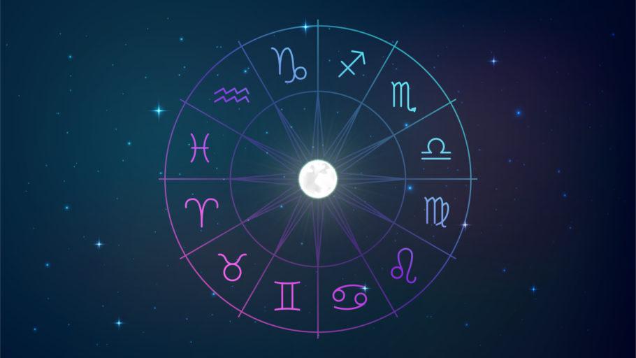 ilustração mostra os 12 signos do zodíaco