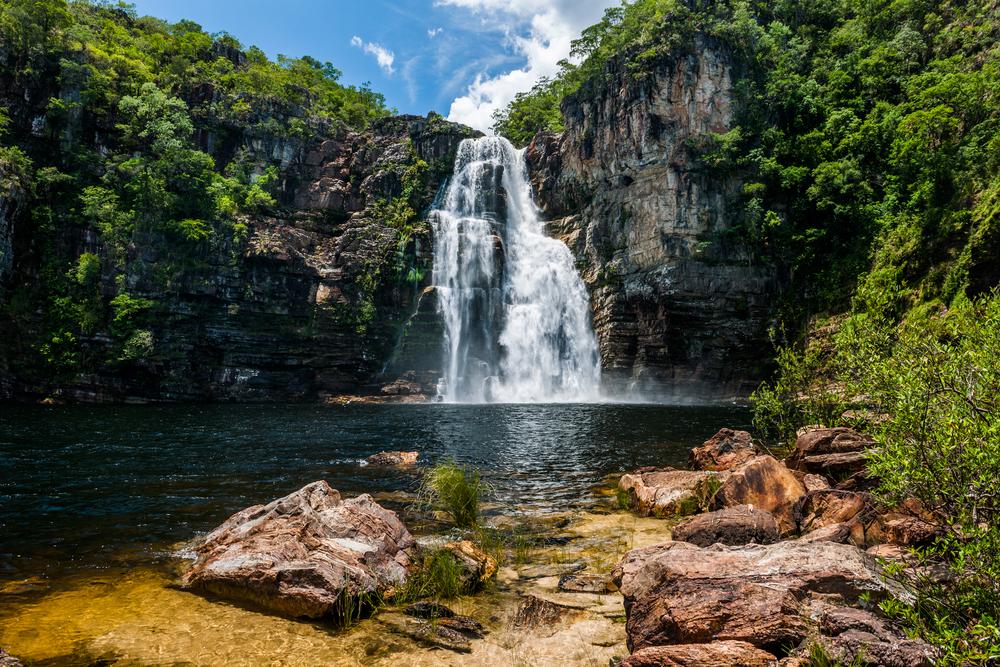 Cachoeira Salto, na Chapada dos Veadeiros