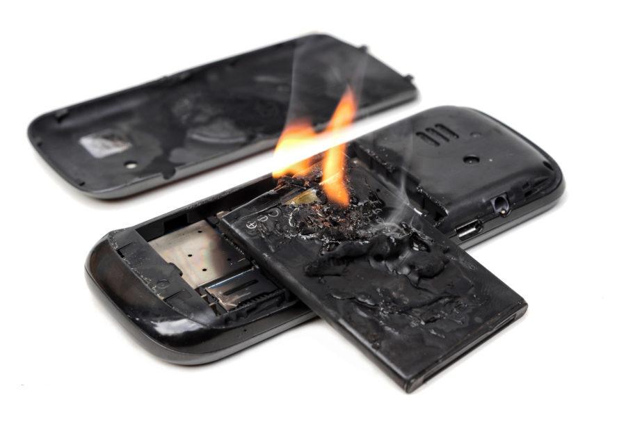 celular pegando fogo