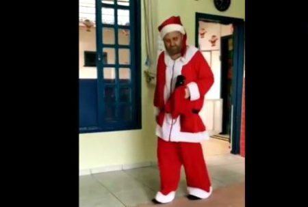Papai Noel em escola de SC